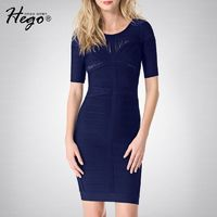 Night Club Office Wear Sexy Hollow Out Slimming Sheath Summer Dress Formal Wear Basics - Bonny YZOZO Boutique Store
