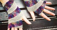 These Double Helix Mitts would look great in our Amazing yarn and Fishermen's wool. Check out the knit pattern on Knitting and So on.