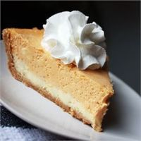 Made this yesterday and it is ridiculousness! Double Layer Pumpkin Cheesecake - Allrecipes.com