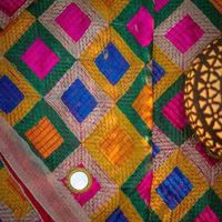 "Baby Blue Light Peanut Color �€"" Mirror Work Phulkari"
