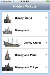 Disney HIdden Mickeys - 4 Parks and Cruise Now you can find over 400 Hidden Mickeys at Walt Disney World, Disneyland and California Adventure, Disney Cruise Line and Castaway Cay, Disneyland Paris, and Disneyland and DisneySea Tokyo. Guide your way throug...
