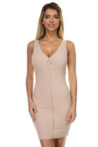 O-ring Front Zipper Up Mini Dress $20.01