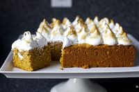 sweet potato cake with toasted marshmallow frosting by smitten, via Flickr