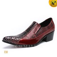 CWMALLS® Rome Men Leather Dress Cuban Heel Shoes CW708200 [Patented Product, Personalized Gift]