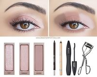 """3 COLORS: Dust, Burnout, Nooner Place Dust on the inner corner of the eye, Burnout in the middle of the eyelid and Nooner on the outer half of the eyelid �€"""" blend the colors together until they merge seamlessly. Use Nooner to draw along the bo..."""