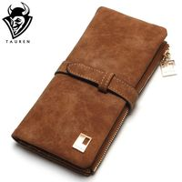 Women Wallets Drawstring Leather Zipper Wallet $19.40