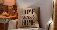 $17.99 Home Sweet Home Burlap Pillow | Kirklands 18L x 18H in....windowseat