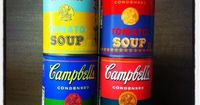 "Check out your local Target for these limited edition, Andy Warhol inspired, 75-cent soup cans commemorating 50 years since the artist's iconic piece, ""32 Campbell Soup Cans""!"