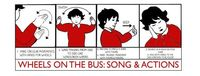 nursery rhyme children song wheels on the bus actions
