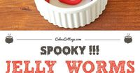 """Are you looking for a gross dish for your Halloween party? Make these creepy crawlers �€"""" but don't worry, take a few bites and you will see how tasty these jelly worms with oreo dirt can be!"""