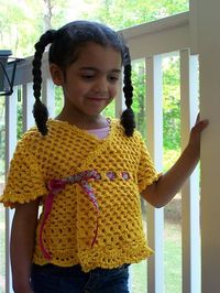 Lacy Child's Wrap Top - Free Pattern