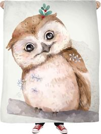 ROFB Love Owls Fleece Blanket $65.00