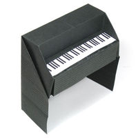 How to make a 3D origami piano