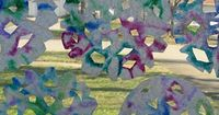Tie Dye Coffee Filter Snowflakes by Melissa from The Chocolate Muffin Tree at Pre K + K Sharing
