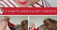 5 ways to wear a scarf and a top knot - #4 - retro bow headband