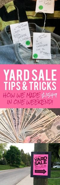 Looking to clear out your closet and make some cash in the process? Here are my yard sale tips and tricks to help guide you to success!