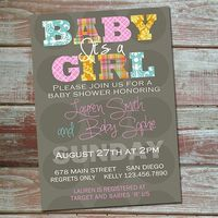 Printable Baby Girl Shower Invitation