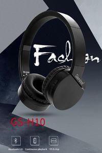 Glamshine GS-H10 Wireless bluetooth 5.0 Headphone 3.5mm AUX-in TF Card Stereo Foldable Headset with Mic