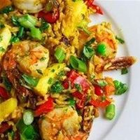 """Thai Fried Rice with Pineapple and Chicken 