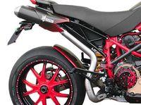 "�™� www.DESMOHEART.com �™� SPARK Ducati Hypermotard 796/1100 Dual Slip-on Exhaust ""Round"" (EU homologated; carbon) �'�715.00"