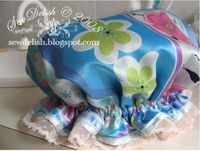 shower cap #tutorial (adapt to sleep bonnet by using satin for lining as well)
