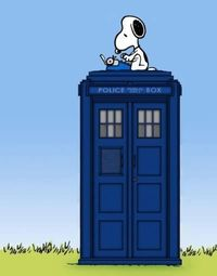 Snoopy writing the next great Doctor Who script...