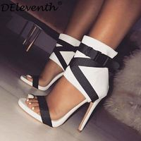 Bella Gladiator Peep Toe High Heels $16.99