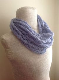 Periwinkle Lace Infinity Scarf - free pattern very pretty sequin yarn