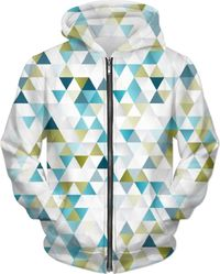 ROMH Blue And Green Triangles Hoodie $80.00