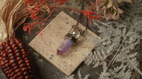 Amethyst, Crystal Pendant, Gemstone Pendant, Natural Rock, Healing Crystals, Witchcraft Supply Necklace, Kitchen Witch, Witch Pendulum $66.60
