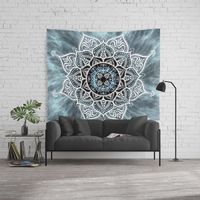 Heart Of The Moon Mandala Wall Tapestry.