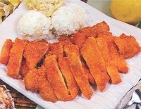 chicken katsu yummy with kim chee too,,,,,