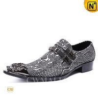 Men Leather Shoes | CWMALLS® Embossed Leather Dress Shoes CW708213[Patented Design, Father's Day Gifts]