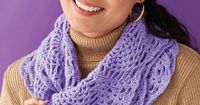 Citrus Mobius by Mary Beth Temple - crochet cowl with DK weight yarn
