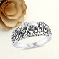 Womens Mens 925 Sterling Silver Promise Ring 8mm Elephant Inspirational Band Ring $33.00