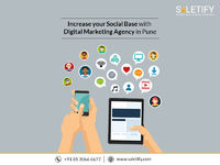 Increase your social base with digital marketing agency in Pune  Wish to increase your followers and Spread your Brand Name? Increase your social base with the most reliable digital marketing agency in Pune and see your increased rate of followers. To kn...