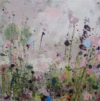 """...slightly different from her normal style and also the others she's done in this breakaway, but this one I like... 'wild, wildflowers'... :) Sandy Dooley; Acrylic, 2013, Painting """"May"""""""