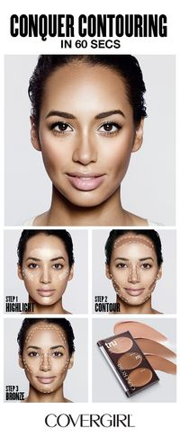 COVERGIRL shows you how to contour your face in 60 seconds! Follow COVERGIRL'S step-by-step contouring tutorial using our truBLEND Contour Palette and learn to highlight, contour and bronze your face in 60 seconds. Great for beginners! Follow this s...