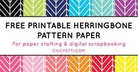 Download and print this free printable herringbone digital paper!