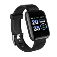 Bakeey 116 Plus USB Charging Heart Rate Blood Pressure Monitor Multi-sport Modes Smart Watch