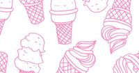 pink ice-cream cones by Janelle Burger