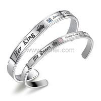 Gullei.com King and Queen Cuff Bracelets Gift for Couples