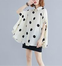 BATWING SLEEVE PLUS SIZE WOMEN BLOUSE SHIRT BIG SIZE SUMMER CASUAL LADY TOPS