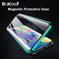 Bakeey 360º Curved Magnetic Flip Double-sided 9H Tempered Glass Metal Full Body Protective Case for Samsung Galaxy A71 2019