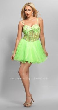 Sequined Sheer Spaghetti Strapped Homecoming Dress With Tulle Skirt