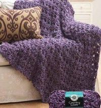 Crochet Cluster Afghan By: Loops & Threads An afghan is a great way to cheer up any boring room! Use this free crochet pattern to make your very own. Throw it over the sofa or your favorite chair.