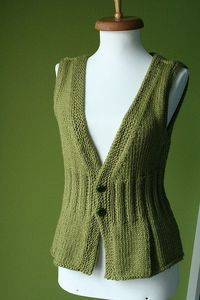 knitted vest. I'm planning to do some knitting in the coming year. Some day, I would like to get good enough to make a vest like this.