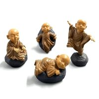 Pack of 4 Mini Buddha Figurines. Doll House Miniatures. Garden Minifigs. Different Colours Available £10.99