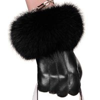 Leather Women Wrist Driving Glove $54.00