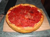 "Gino's East Pizza Recipe - haven't tried it but looks just like what I ate on Saturday night. It takes 1 hour to get ""the pie"" even at the restaurant in Chicago."
